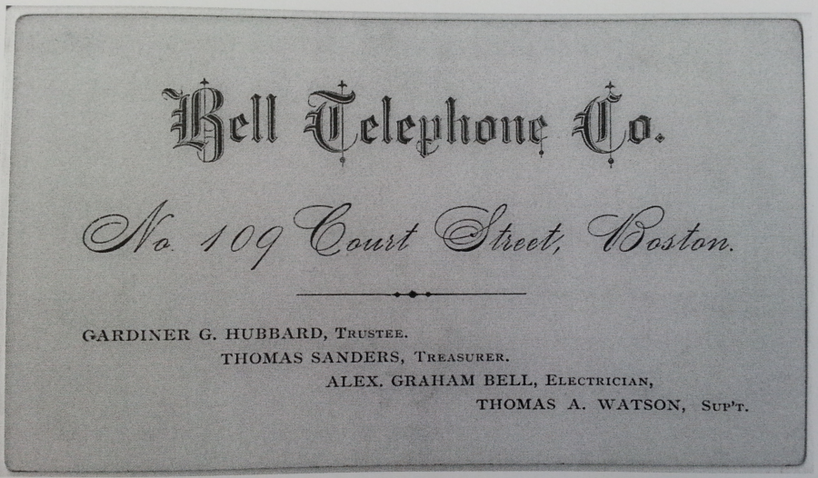Bell Telephone Company Business Card